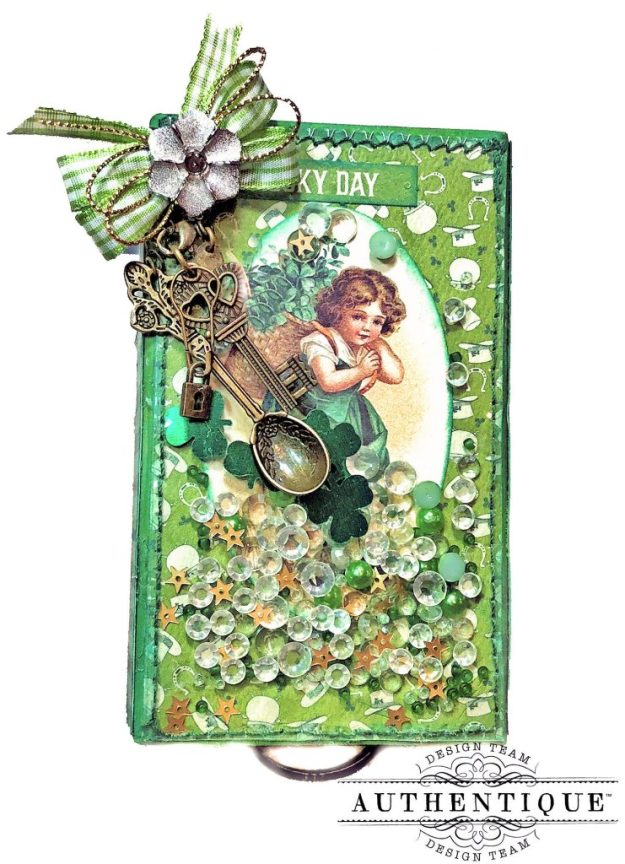 Authentique Clover Last Minute St. Patrick's Day Treat Box Tutorial by Kathy Clement Kathy by Design Photo 01