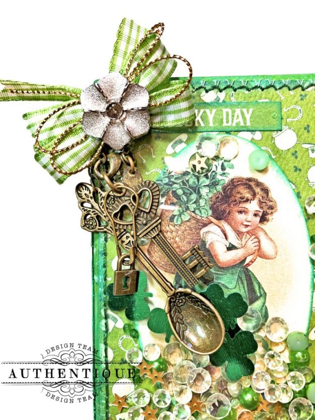 Authentique Clover Last Minute St. Patrick's Day Treat Box Tutorial by Kathy Clement Kathy by Design Photo 03