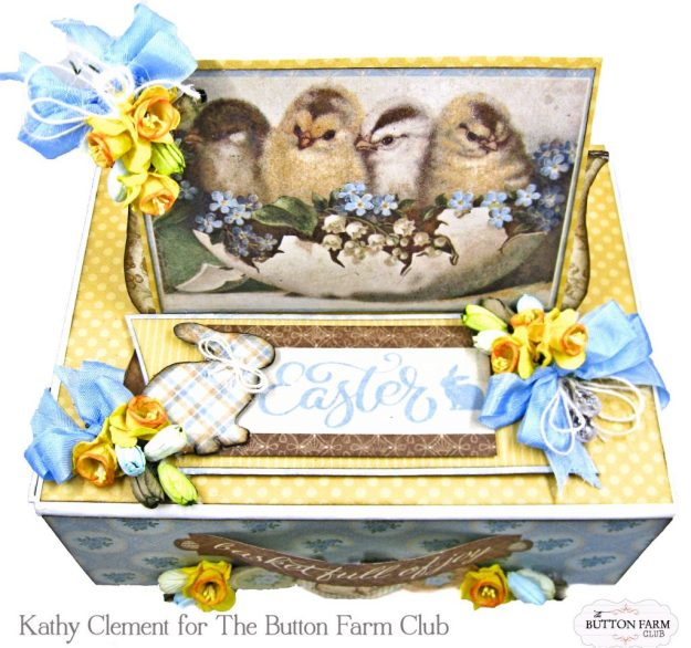 The Button Farm Club Basket Full of Joy Boxed Mini Album Kit Authentique Abundant Graphic 45 Deep Rectangle Box by Kathy Clement Kathy by Design Photo 02