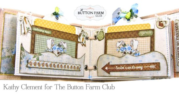 The Button Farm Club Basket Full of Joy Boxed Mini Album Kit Authentique Abundant Graphic 45 Deep Rectangle Box by Kathy Clement Kathy by Design Photo 06