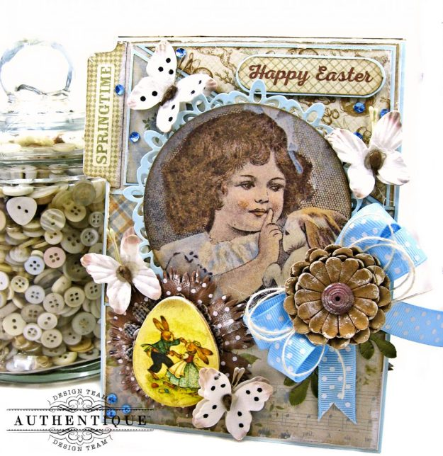 Authentique Abundant Baby Easter Bunny Card Folio by Kathy Clement Kathy by Design Photo 01