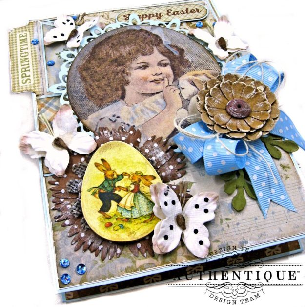 Authentique Abundant Baby Easter Bunny Card Folio by Kathy Clement Kathy by Design Photo 02