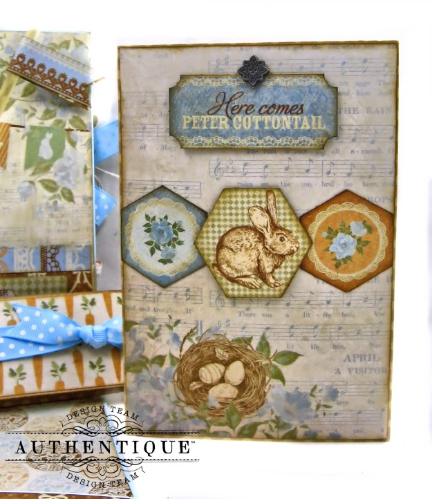Authentique Abundant Baby Easter Bunny Card Folio by Kathy Clement Kathy by Design Photo 06