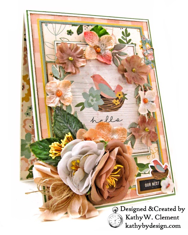 Simple Stories Spring Farmhouse Floral Wreath Card by Kathy Clement Kathy by Design Photo 01