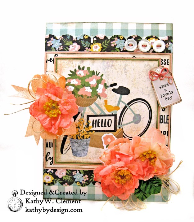 Simple Stories Spring Farmhouse Blooming Bicycle Card by Kathy Clement Kathy by Design Photo 02