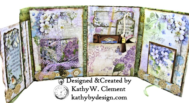 Stamperia Lilac Flower Alphabet Tissue Wrapped Journal Tim Holtz Lace Baseboard Frame Heartfelt Creations Lush Lilac by Kathy Clement for The Funkie Junkie Boutique Photo 07