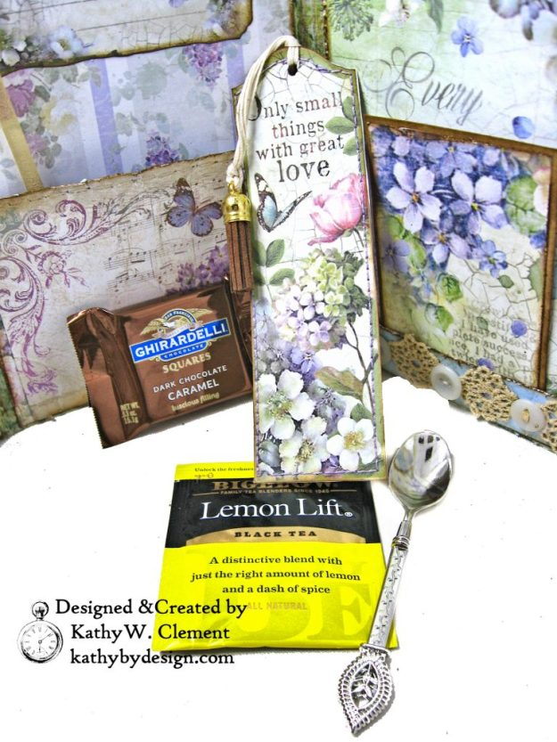 Stamperia Lilac Flower Alphabet Tissue Wrapped Journal Tim Holtz Lace Baseboard Frame Heartfelt Creations Lush Lilac by Kathy Clement for The Funkie Junkie Boutique Photo 12
