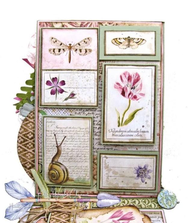 Stamperia Spring Botanic Shaker Card Folio Tutorial by Kathy Clement Kathy by Design Nomadic Soul Diaries Photo 05