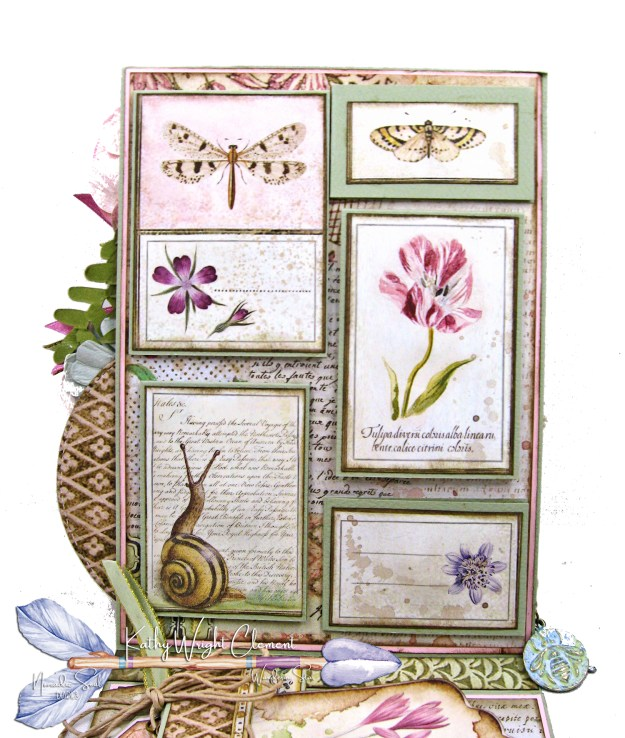 Stamperia Spring Botanic Shaker Card Folio Tutorial by Kathy Clement Kathy by Design Nomadic Soul Diaries Photo 05