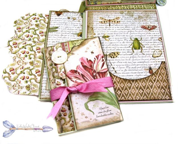 Stamperia Spring Botanic Shaker Card Folio Tutorial by Kathy Clement Kathy by Design Nomadic Soul Diaries Photo 08
