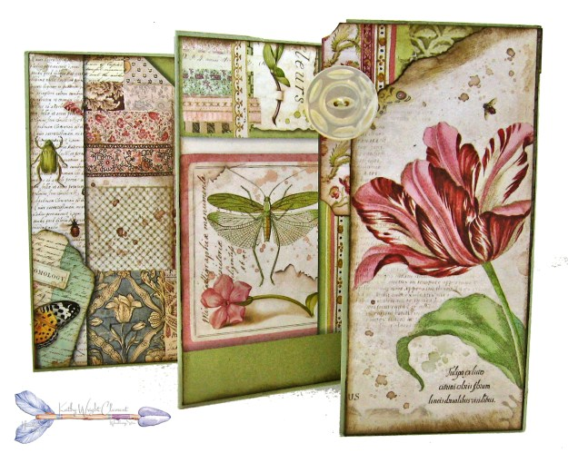 Stamperia Spring Botanic Shaker Card Folio Tutorial by Kathy Clement Kathy by Design Nomadic Soul Diaries Photo 09