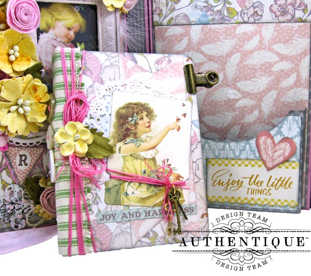 Authentique Dreamy Folio Tutorial Eileen Hull Sizzix Notebook Die Kathy Clement Kathy by Design Photo 08