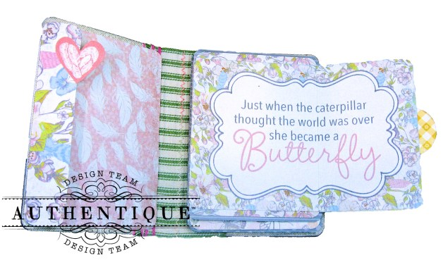 Authentique Dreamy Folio Tutorial Eileen Hull Sizzix Notebook Die Kathy Clement Kathy by Design Photo 09