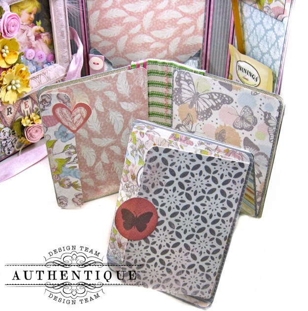 Authentique Dreamy Folio Tutorial Eileen Hull Sizzix Notebook Die Kathy Clement Kathy by Design Photo 10