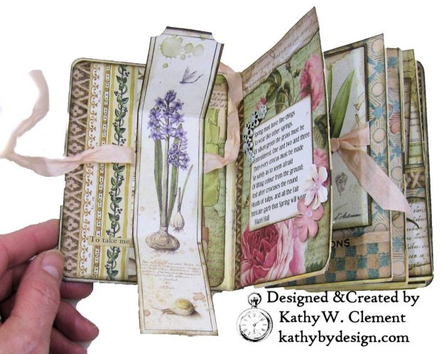 Stamperia Spring Botanic Eileen Hull Treasures Box and Notebook Tutorial Seth Apter Baked Velvet Embossing Powders by Kathy Clement Kathy by Design for The Funkie Junkie Boutique Photo 05