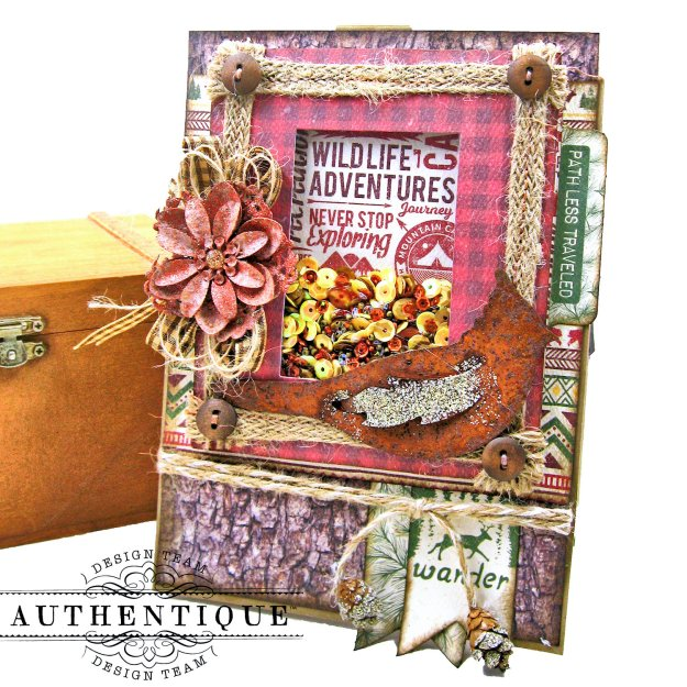 Authentique Rustic Shaker Card Tutorial Kathy Clement Kathy by Design Photo 01