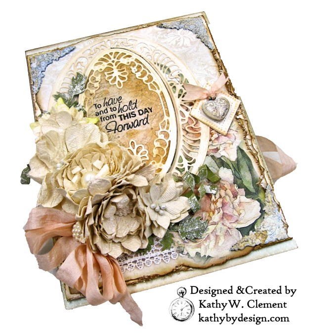 Amazing Paper Grace Vintage Treasures Dies Bella Luce Oval Stamperia Ceremony Wedding Folio by Kathy Clement Kathy by Design Photo 03