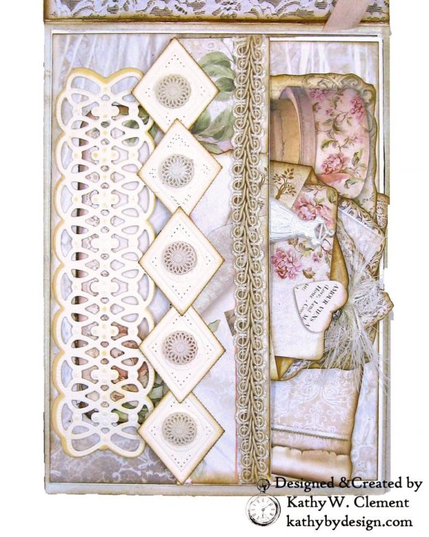 Amazing Paper Grace Vintage Treasures Dies Bella Luce Oval Stamperia Ceremony Wedding Folio by Kathy Clement Kathy by Design Photo 06