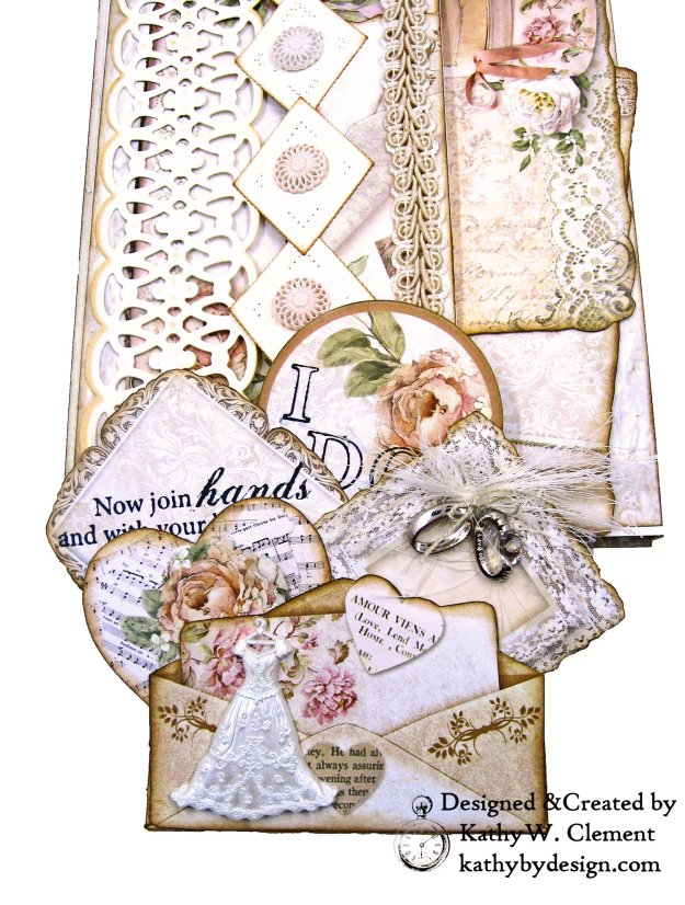 Amazing Paper Grace Vintage Treasures Dies Bella Luce Oval Stamperia Ceremony Wedding Folio by Kathy Clement Kathy by Design Photo 07
