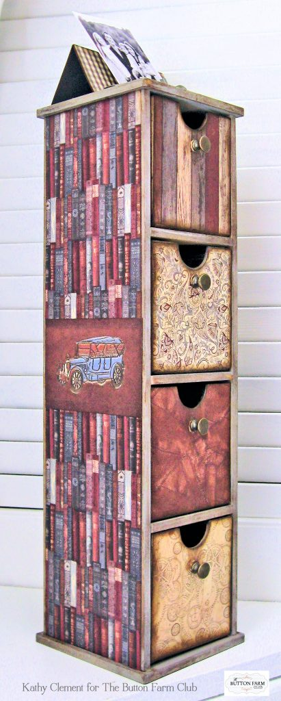 Authentique Mister Desk Organizer Kit for Dad by Kathy Clement Kathy by Design for The Button Farm Club Photo 04