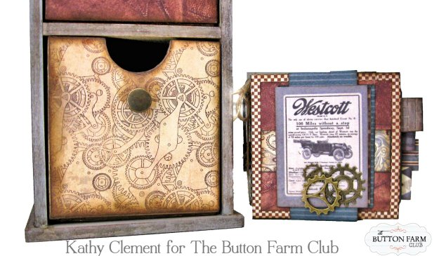 Authentique Mister Desk Organizer Kit for Dad by Kathy Clement Kathy by Design for The Button Farm Club Photo 06