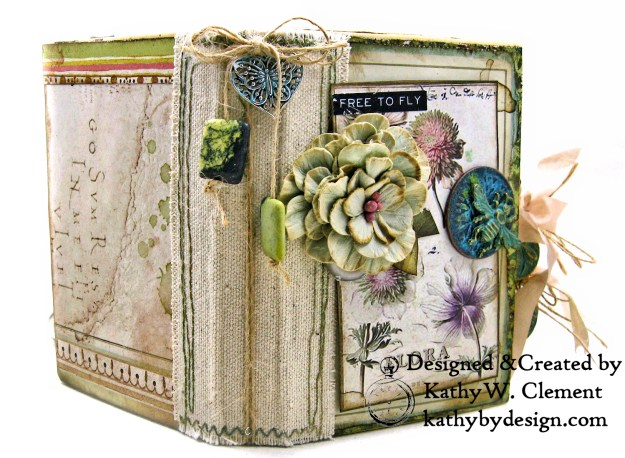 Stamperia Spring Botanic Eileen Hull Notebook Video Tutorial by Kathy Clement Kathy by Design for The Funkie Junkie Boutique Photo 02