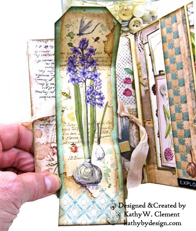 Stamperia Spring Botanic Eileen Hull Notebook Video Tutorial by Kathy Clement Kathy by Design for The Funkie Junkie Boutique Photo 04