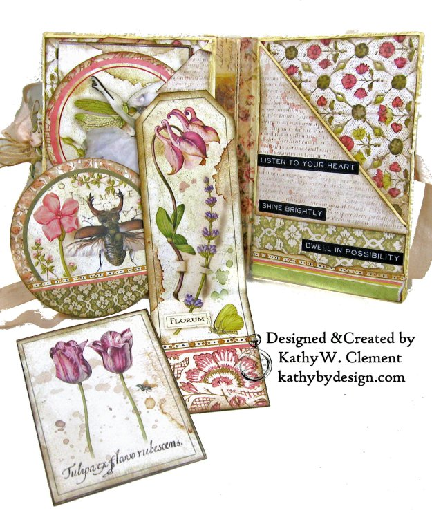 Stamperia Spring Botanic Eileen Hull Notebook Video Tutorial by Kathy Clement Kathy by Design for The Funkie Junkie Boutique Photo 07