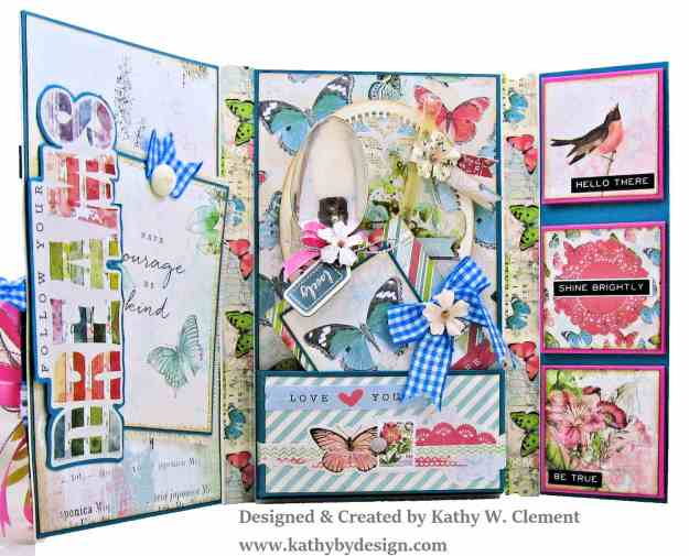 Simple Stories Simple Vintage Botanicals Folio by Kathy Clement for Really Reasonable Ribbon Photo 07