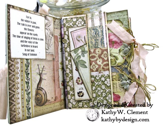 Eileen Hull Notebook Die Stamperia Spring Botanic Mini Album by Kathy Clement Kathy by Design for The Funkie Junkie Boutique Photo 03