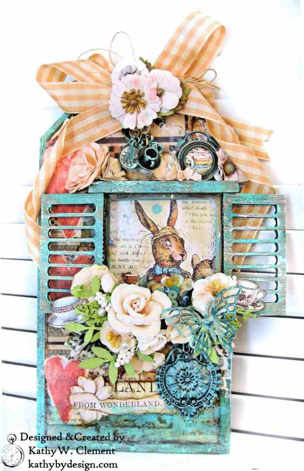 Stamperia Alice Mixed Media Etcetera Tag by Kathy Clement Kathy by Design for The Funkie Junkie Boutique Photo 04