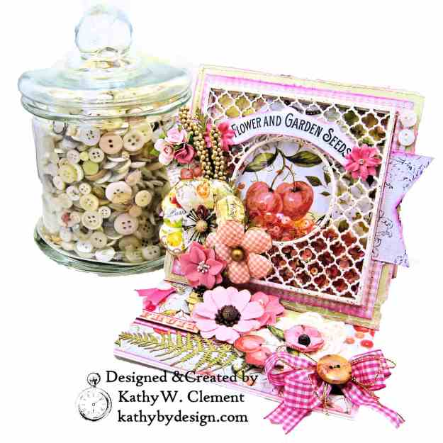 Prima Fruit Paradise Shaker Card by Kathy Clement for Really Reasonable Ribbon Photo 2