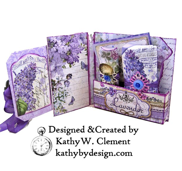 Summer Berries Box Card Spellbinders Amazing Paper Grace Cannetille Rectangle Dies Stamperia Provence Lilac Flowers by Kathy Clement Kathy by Design Photo 02