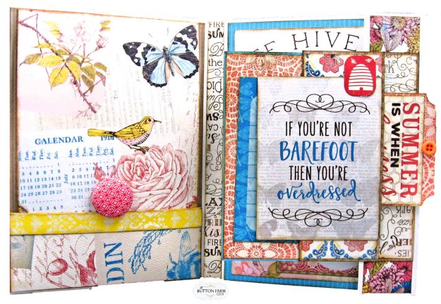 Authentique Endless Summer Card Kit for The Button Farm Club by Kathy Clement Kathy by Design Photo 03