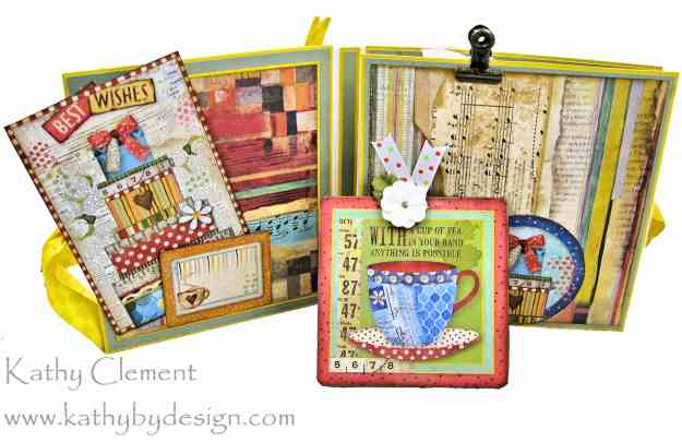 Stamperia Patchwork Tea Folio by Kathy Clement for Really Reasonable Ribbon Photo 05