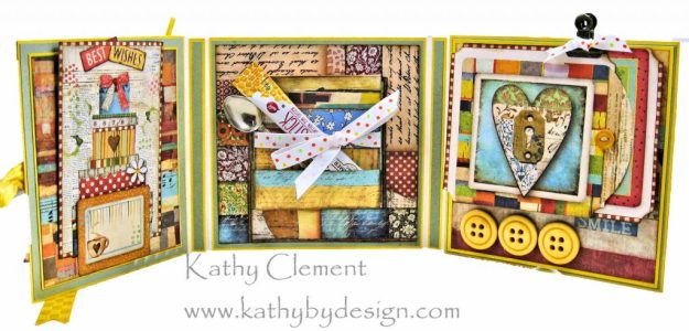 Stamperia Patchwork Tea Folio by Kathy Clement for Really Reasonable Ribbon Photo 06