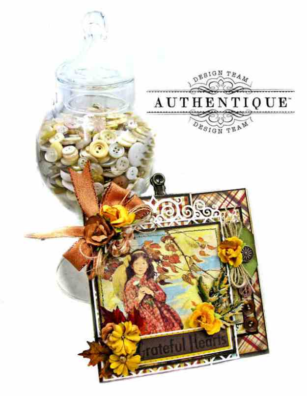 Authentique Calendar Collection November Grateful Heart Thanksgiving Folio by Kathy Clement Kathy by Design