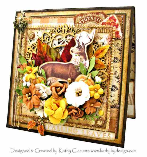 Prima Autumn Sunset Deer Autumn Card Folio by Kathy Clement Kathy by Design PHoto 01