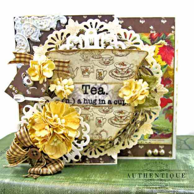 Authentique Gracious Double Z Fold Card Tutorial by Kathy Clement Kathy by Design