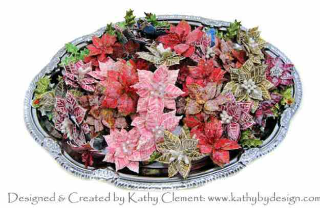Heartfelt Creations Handmade Poinsettias Tutorial by Kathy Clement Kathy by Design Photo 01