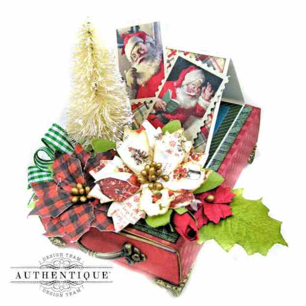 Secret Santa Treat Box with Shaker Ornament Authentique Calendar Collection December by Kathy Clement Kathy by Design Photo 01