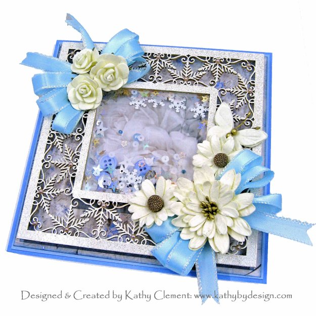 Stamperia New England Snowflake Shaker Cards Kathy Clement Kathy by Design Photo 01
