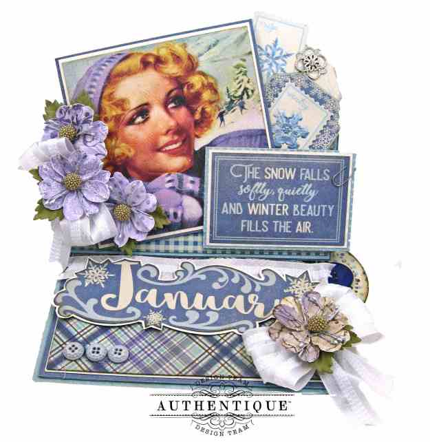 January Desk Calendar Authentique Calendar Collection by Kathy Clement Kathy by Design Photo 01
