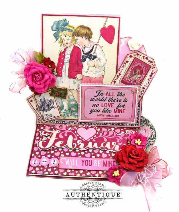 February Desk Calendar Authentique Calendar Collection by Kathy Clement Kathy by Design Photo 01