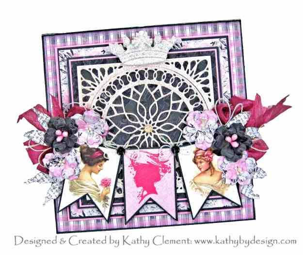 Elegant Infinity Spellbinder Die of the Month Amazing Paper Grace Authentique Flawless Shabby Chic Card by Kathy Clement Kathy Clement Kathy by Design Photo 01
