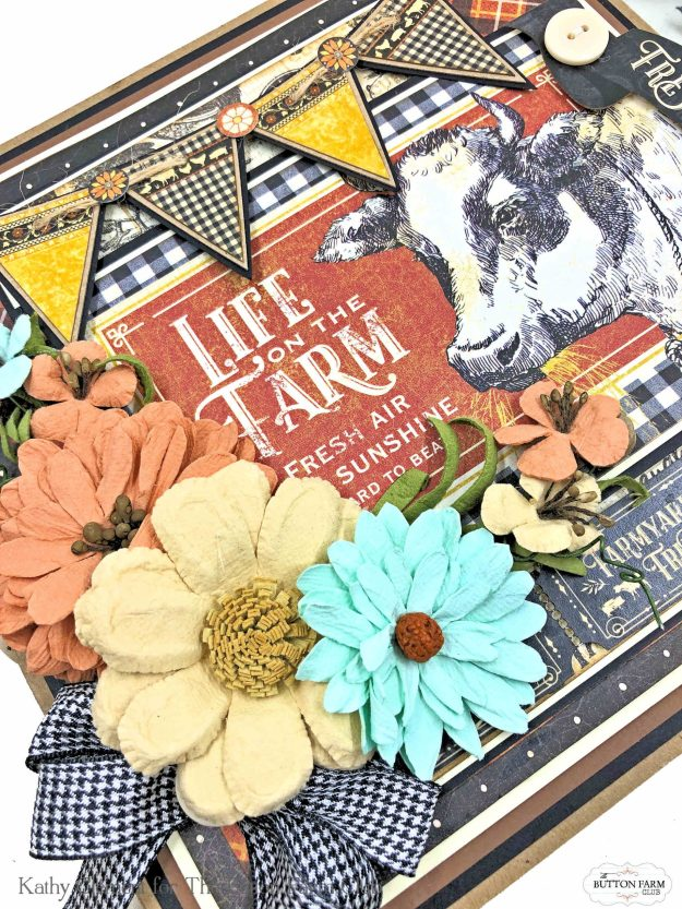 Graphic 45 Farmhouse Folio Button Farm Club by Kathy Clement Kathy by Design Photo 01