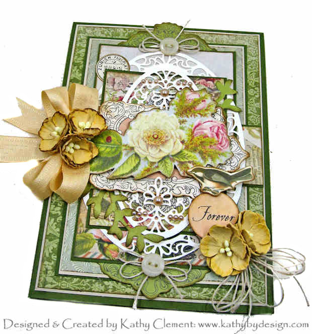 Kaisercraft Cherry Blossom Lane Sympathy Card by Kathy Clement Kathy by Design Photo 01