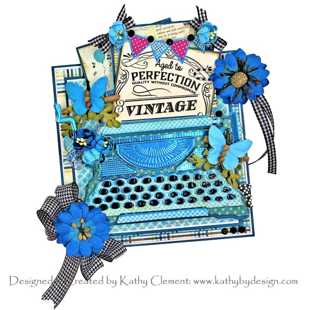 Spellbinders Amazing Paper Grace April 2020 Die of the Month Vignette Typewriter by Kathy Clement Kathy by Design Photo 01