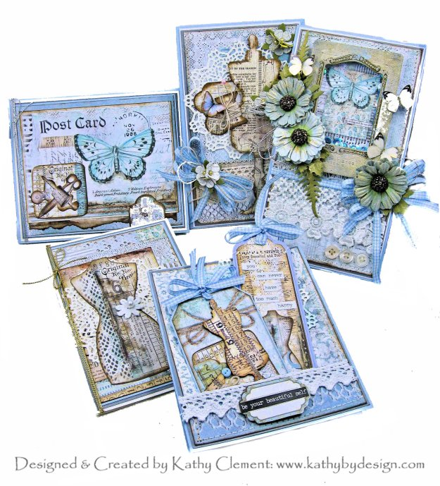 Stamperia Atelier Cards from Scraps for Throwback Thursday by Kathy Clement Kathy by Design Photo 01