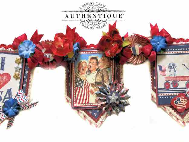 Authentique Liberty Patriotic Banner for Summer by Kathy Clement Kathy by Design